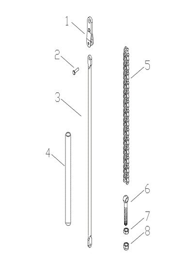 Схема ручки тележки Xilin BF-III