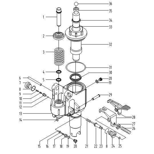 Схема гидроузла тележки Xilin BF