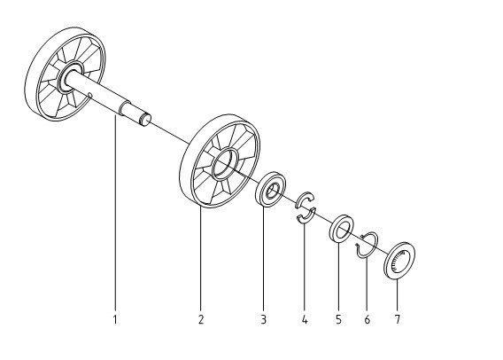 Рулевые колеса для гидравлической тележки Xilin BF
