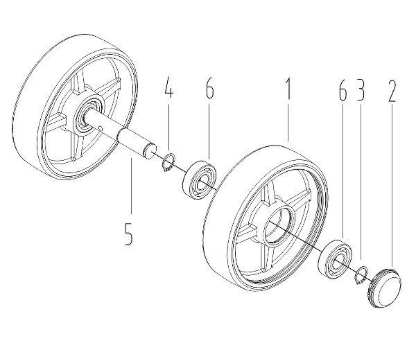 Схема рулевых колес для Xilin BF-III