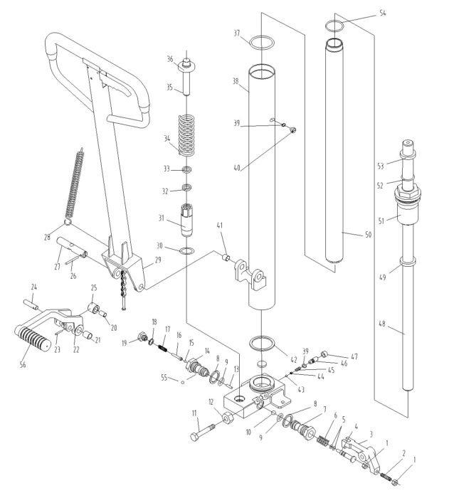 Схема гидроузла штабелера Xilin SDJ1516
