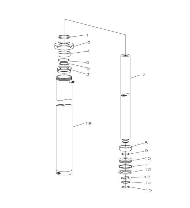 Схема гидроузла Xilin CDD15B