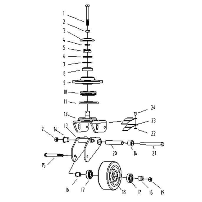 Опорное колесо Xilin CDDR15-II